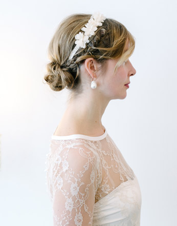 Wedding hair up do with tiara - hair by Naomi Hair London