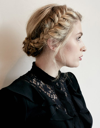 Long hair braids and up do - hair by Naomi Hair London